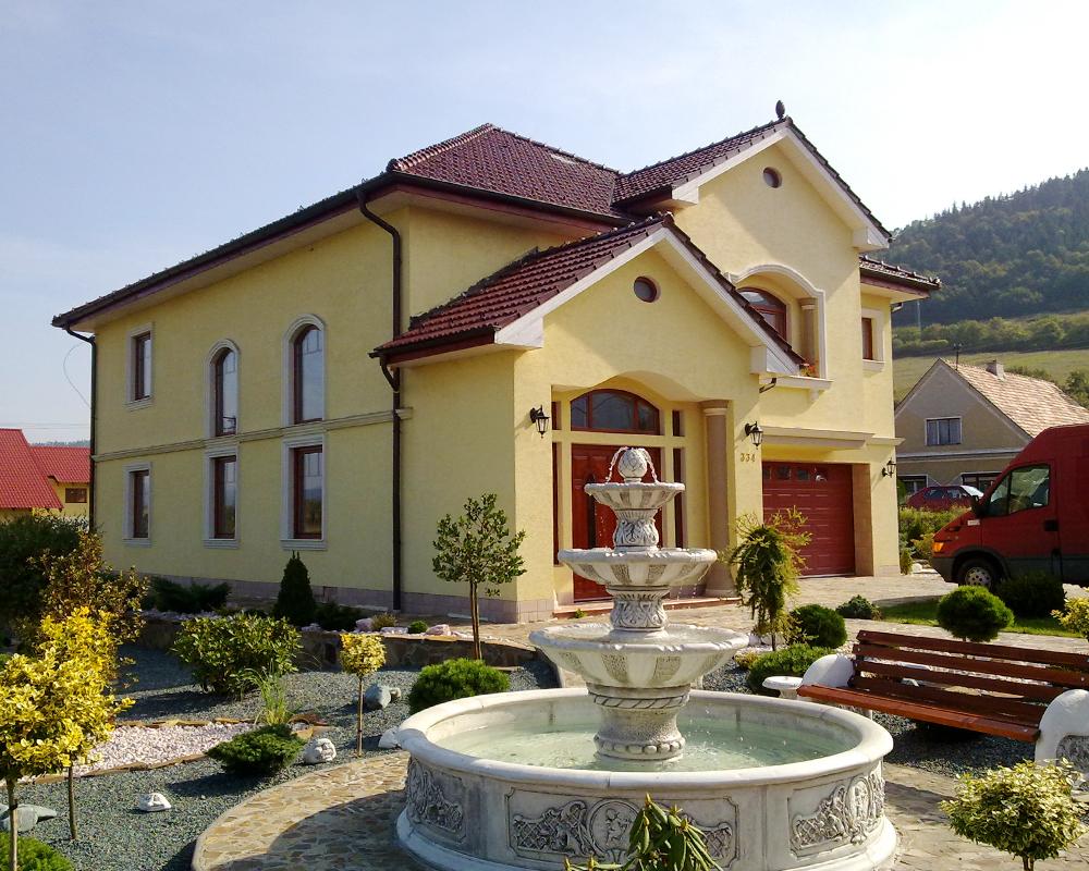 Rodinný dům s fontánou v Považské Bystřici